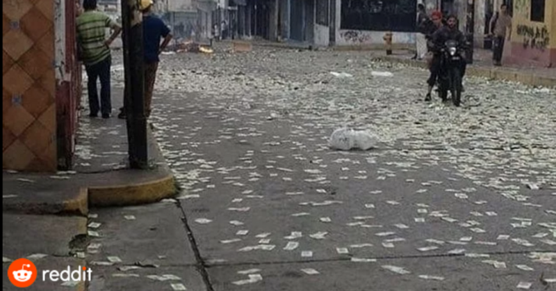 加密货币之魂的战争委内瑞拉通货膨胀的街道